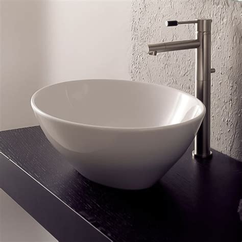 V2003 Porcelain Vessel Sink White Sink Only No .