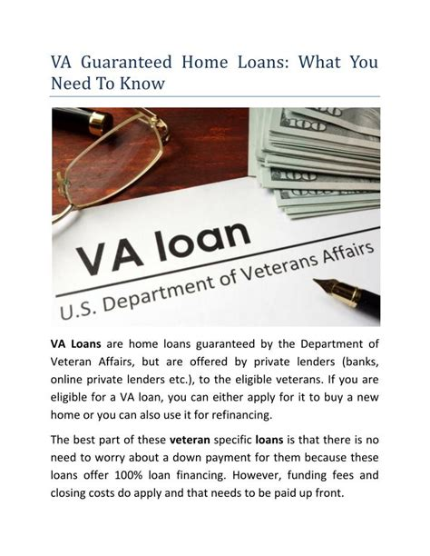 [pdf] Va-Guaranteed Home Loans For Veterans.