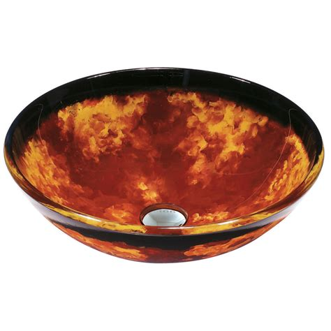 Vigo Auburn Mocha Fusion Glass Vessel Bathroom Sink And .