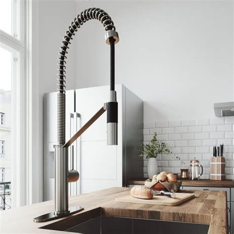 Vigo Livingston Magnetic Pull Down Single Handle Kitchen .