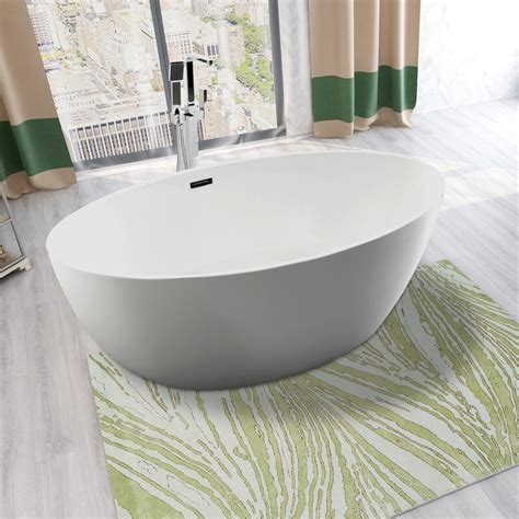 Vanity Art 55  X 32  Freestanding Soaking Bathtub .