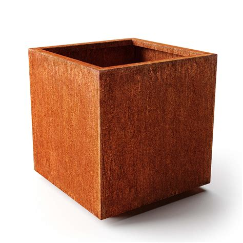 Veradek Metallic Series Cube Planter Gray Medium From .