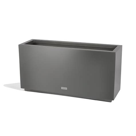 Veradek Metallic Series Long Galvanized Steel Planter Box .