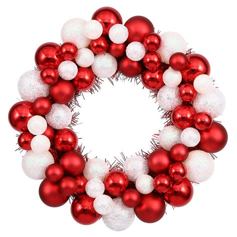 Vickerman 513873 - 12 Candy Cane Ball Christmas Wreath .