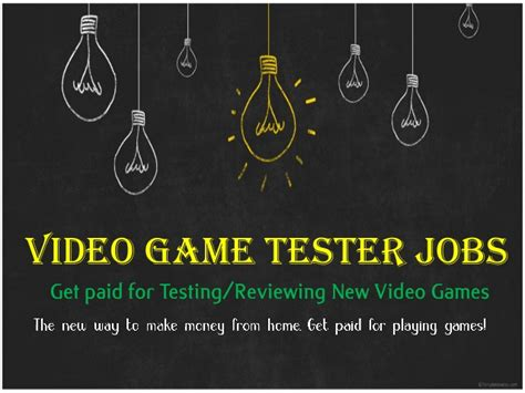 Video Game Tester Jobs At Home: Get Paid For Playing/testing.