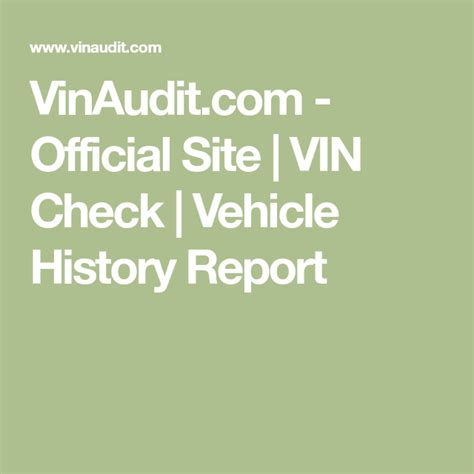 [click]vinaudit Com - Official Site  Vin Check  Vehicle History .