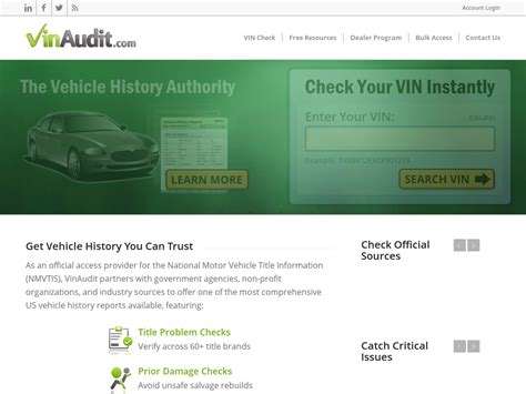 Vinaudit - Carfax Alternative - Official Nmvtis Provider 99 Too.