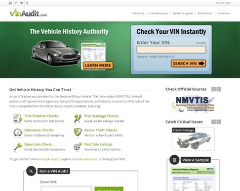 Vinaudit Carfax Alternative Official Nmvtis Provider Instruction : Https.
