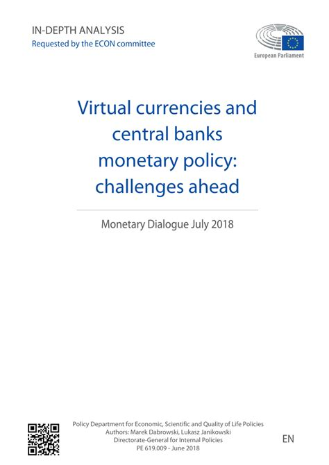 [pdf] Virtual Currencies And Central Banks Monetary Policy .