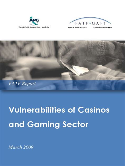 [pdf] Vulnerabilities Of Casinos And Gaming Sector - Fatf-Gafi Org.