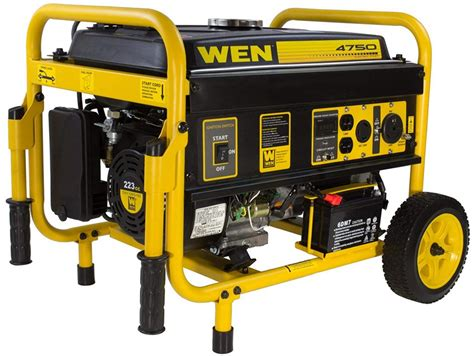 Wen 56475 4750-Watt Gasoline Powered Portable Generator .