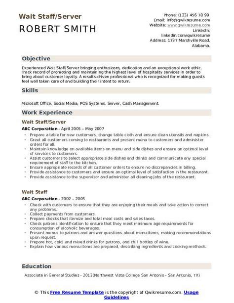 Resume Sample Using Html | Word Document Letter Of Resignation Wait Staff Resume Sample Templates
