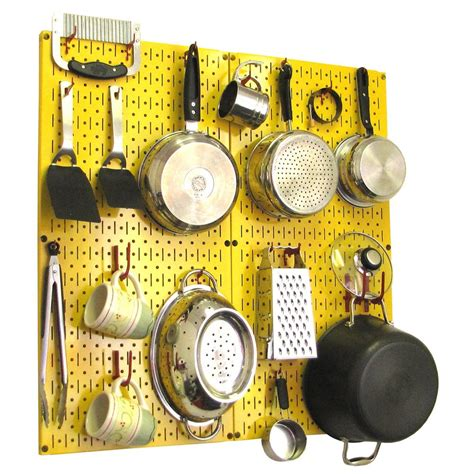 Wall Control Kitchen Pegboard 32 In X 32 In Metal Peg .