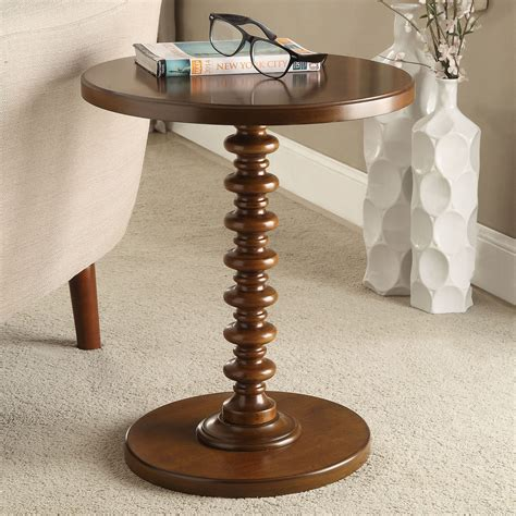 Walnut Round End Tables