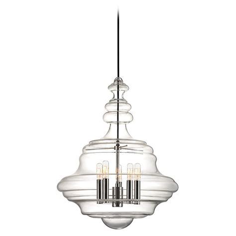 Washington 5 Light Pendant Light - Polished Nickel  4020 .