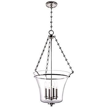 Washington 5-Light Large Pendant - Polished Nickel Finish .