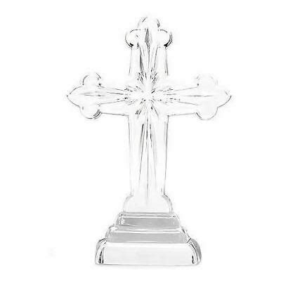 Waterford Crystal 10 Wedge Cut Sculpted Cross 40018858 .