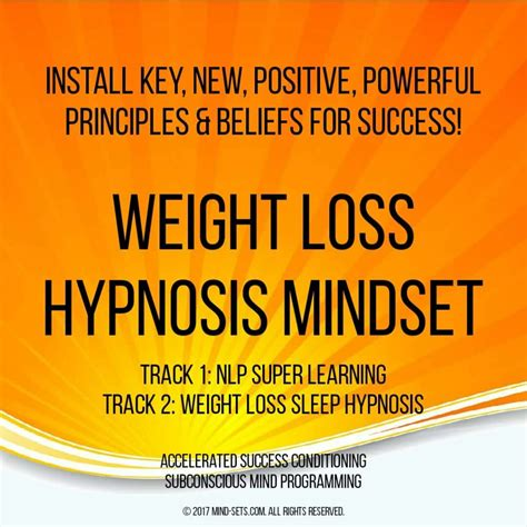 Weight Loss Hypnosis Mindset – Mind-Sets.