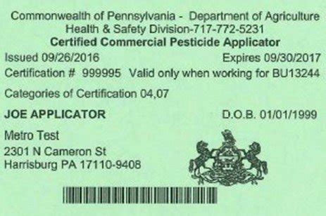 Which Pesticide License Does Your Business Need? - Penn State.