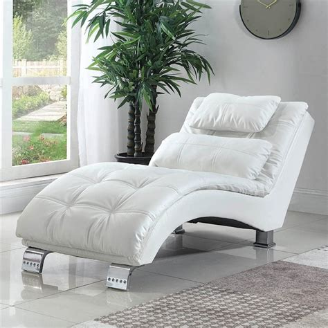 White Leather Chaise Lounges - Walmart Com.