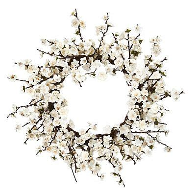 White Plum Blossom Wreath  Kirklands.