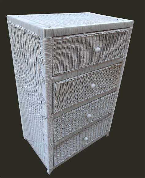 White Wicker Chest Of Drawers Sale