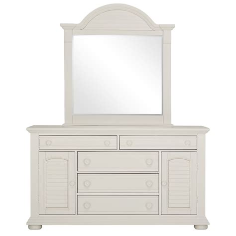 White Wooden Dresser With Mirror