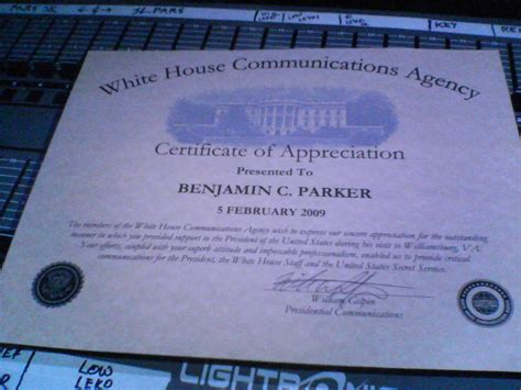 White House Certificate