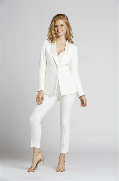 White Tuxedo Suit for Women
