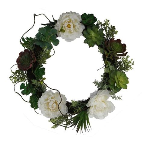 Who Sells   18 Floral Succulent Wreath By House Of Hampton .