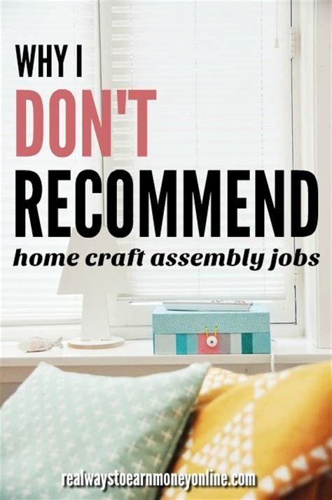 Why I Dont Recommend Work At Home Assembly Jobs.