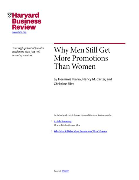 Why Men Still Get More Promotions Than Women.