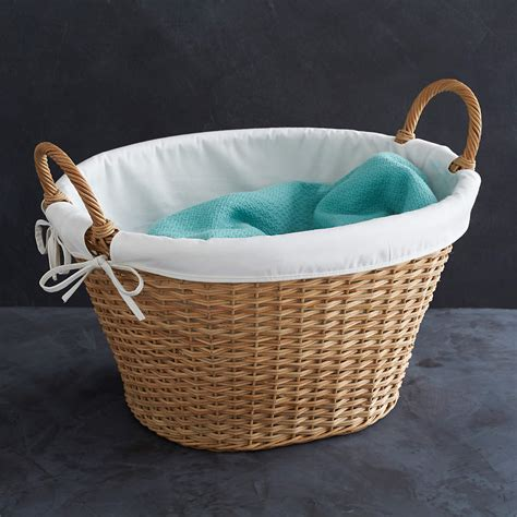 Wicker Laundry Basket With Liner  Reviews  Crate And Barrel.