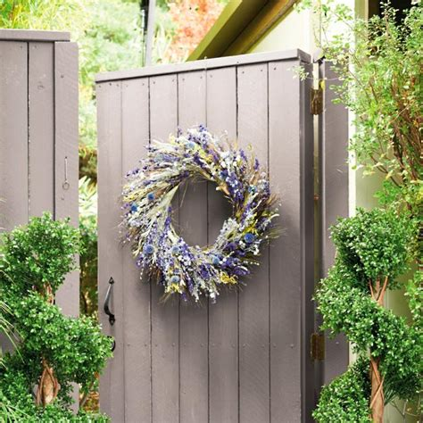 Wild Flower Garden Wreath  Frontgate.