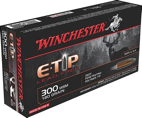 Winchester Ammunition Expands Lead-Free E-Tip Line.