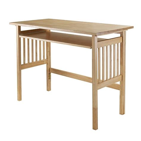 Winsome Solid Wood Folding Computer Desk Natural  Quill Com.