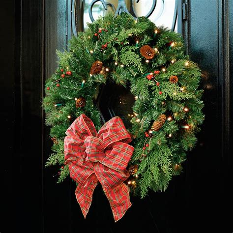 Winter Pine 30-In Cordless Wreath  Frontgate.
