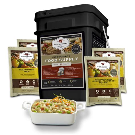 Wise Company 60 Serving Entr E Only Grab And Go Food Kit .