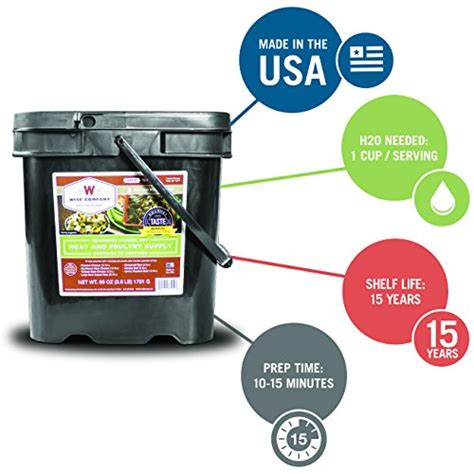 Wise Company 60 Serving Gourmet Seasoned Freeze Dried Meat .