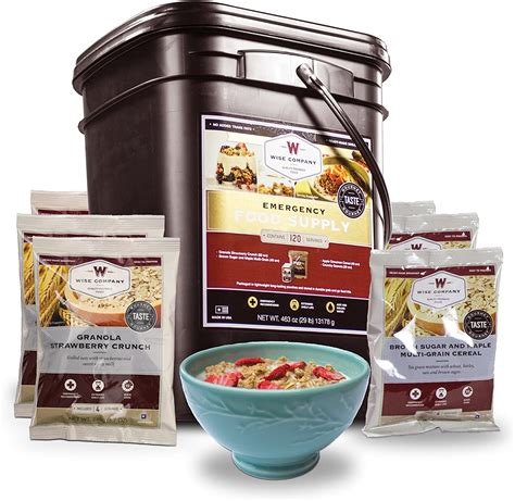Wise Company Emergency Freeze Dried Breakfast - 120 Servings.