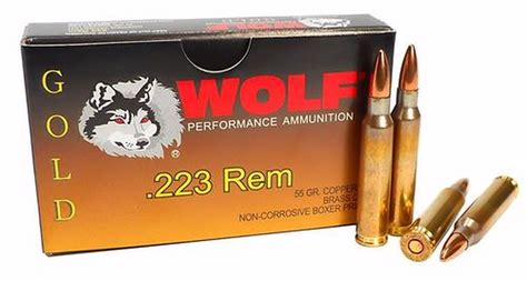 Wolf Gold 223 Remington Ammo 55 Grain Full Metal Jacket.