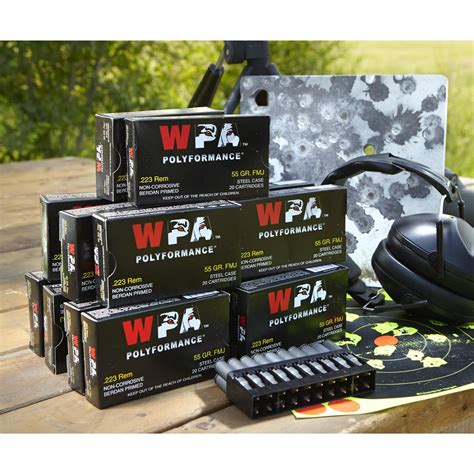 Wolf Wpa Polyformance  223 Remington 55 Grain Fmj 500 .