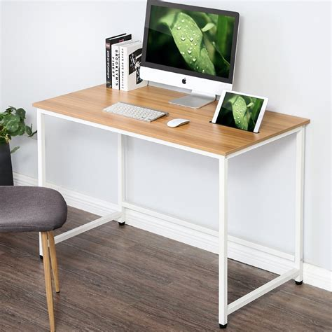 Wood And Metal Home Office Writing Desk - Sears Com.