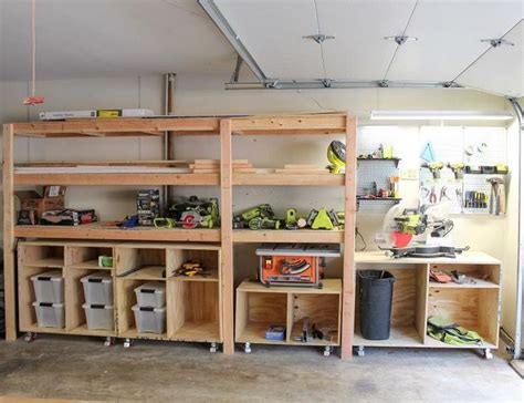 Wood Shelving Ideas For Garage