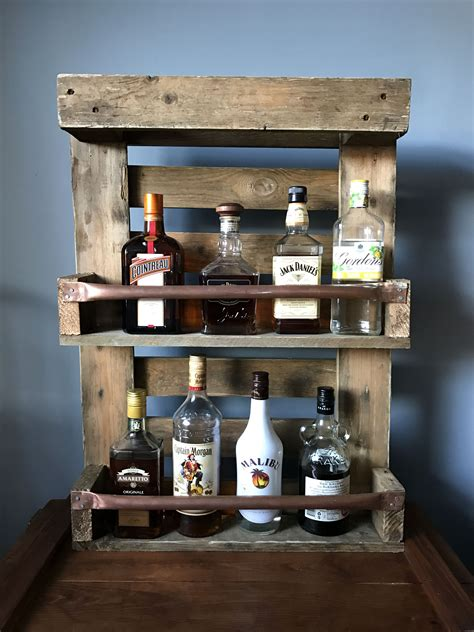 Wooden Drinks Shelf