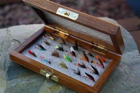 Wooden Fly Tying Box