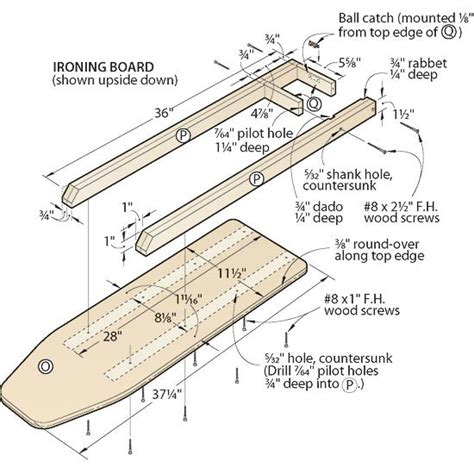 Wooden Ironing Board Plans