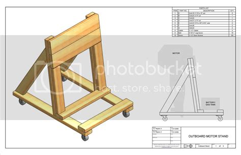Wooden Outboard Stand Plans
