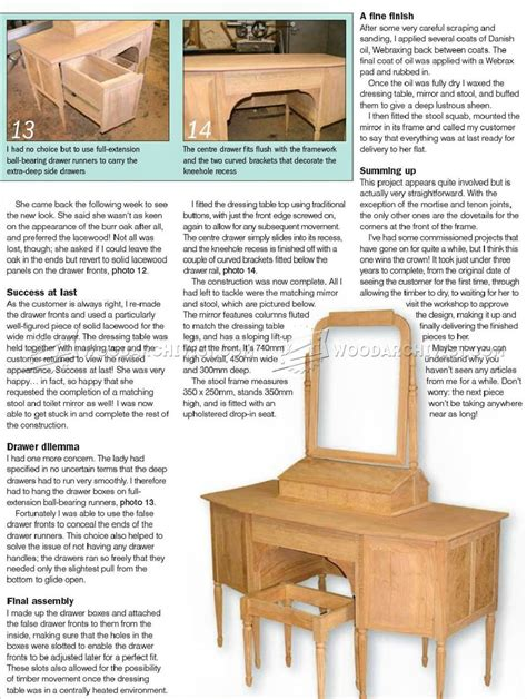 Woodworking Plans Dressing Table