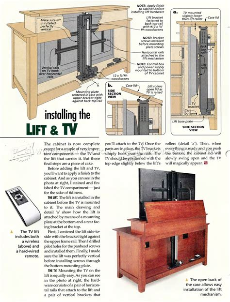 Woodworking Plans TV Lift Cabinet